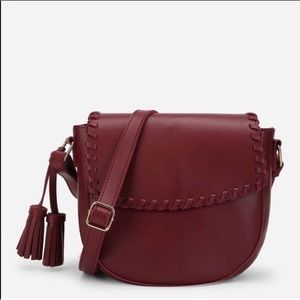 ANAYA • Burgundy Crossbody Bag